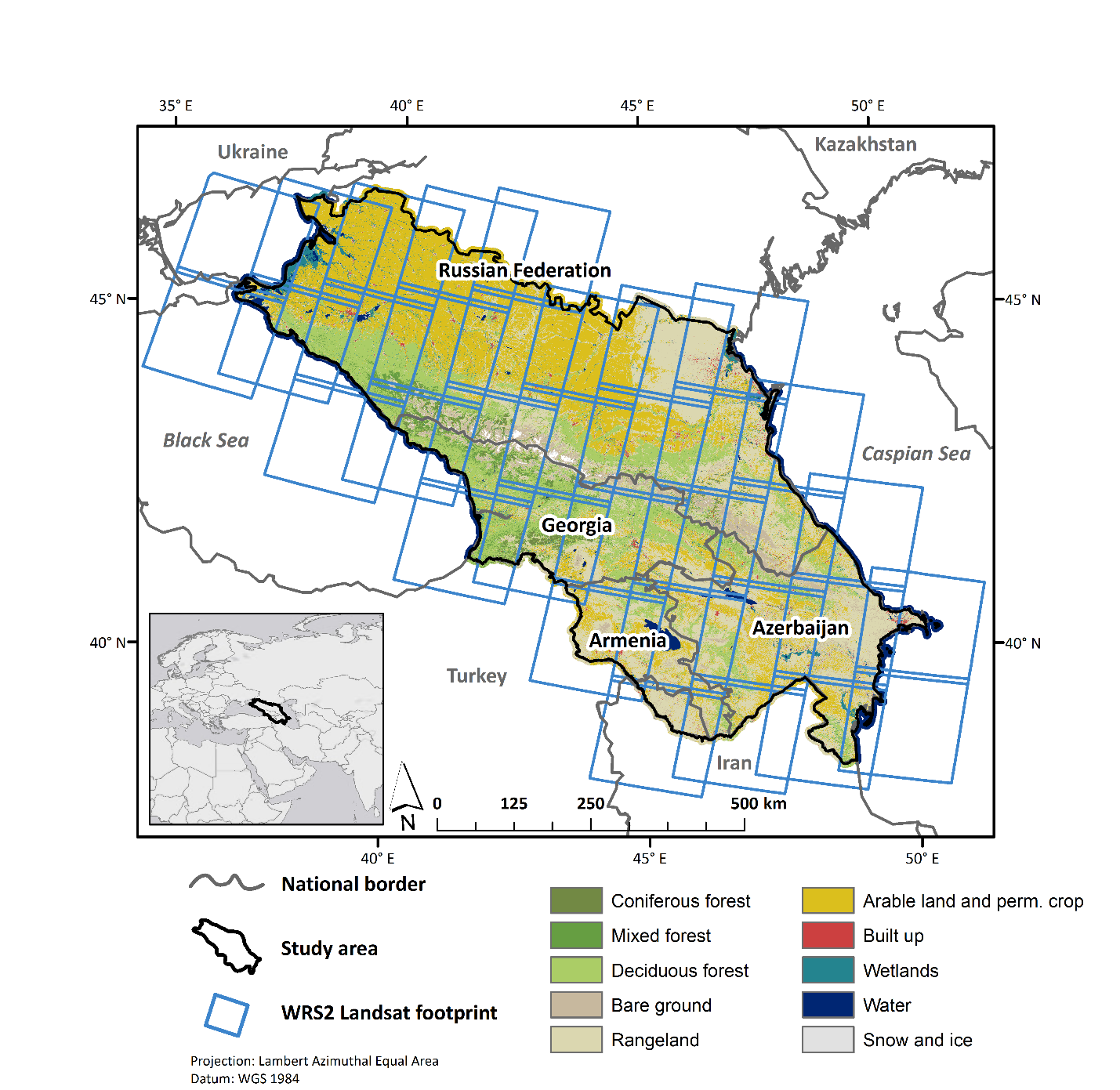 Large land cover and land use change mapping in the Caucasus ... on